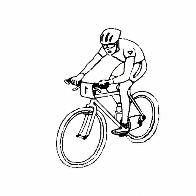 Free coloring and drawings Cycling Sport Coloring page