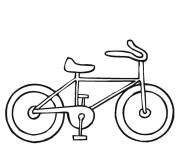 Coloring pages Easy bicycle