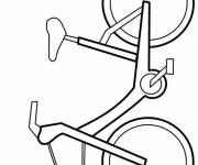 Coloring pages Easy bike in vector