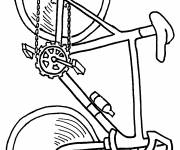 Coloring pages Easy bike on computer