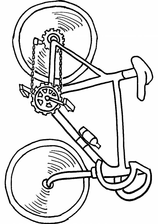Free coloring and drawings Easy bike on computer Coloring page