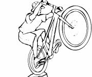 Coloring pages Extreme cycling sport to cut out