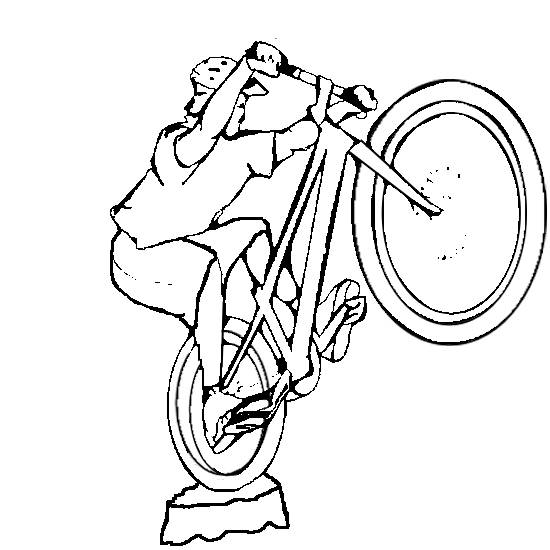 Free coloring and drawings Extreme cycling sport to cut out Coloring page