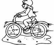 Coloring pages Fast bicycle