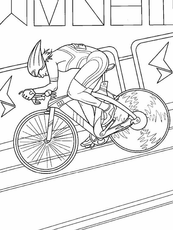 Free coloring and drawings Indoor cycling Coloring page