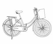 Coloring pages Maternal bike