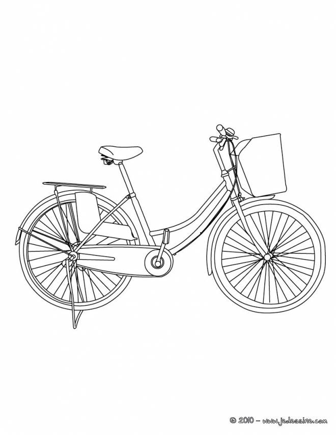 Free coloring and drawings Maternal bike Coloring page