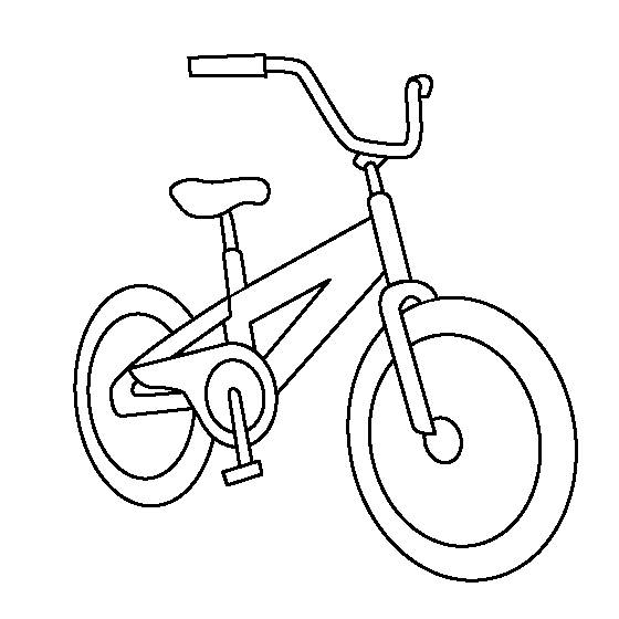 Free coloring and drawings Mountain bike Coloring page