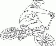 Coloring pages Mountain bike for extreme show