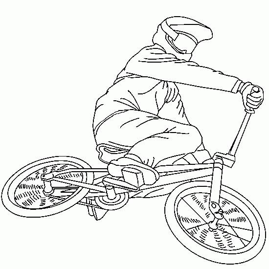 Free coloring and drawings Mountain bike for extreme show Coloring page
