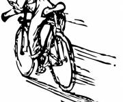 Coloring pages pro cyclist in race
