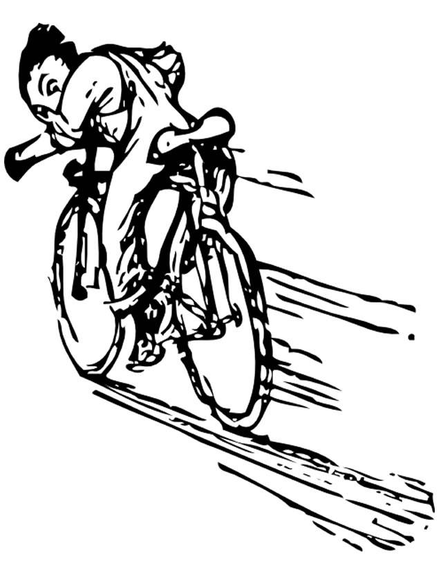 Free coloring and drawings pro cyclist in race Coloring page