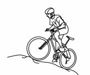 Coloring pages Riding cyclist