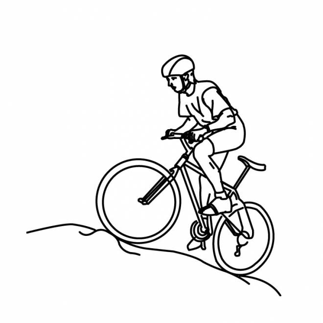 Free coloring and drawings Riding cyclist Coloring page