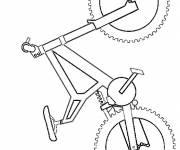 Coloring pages Simplified bike