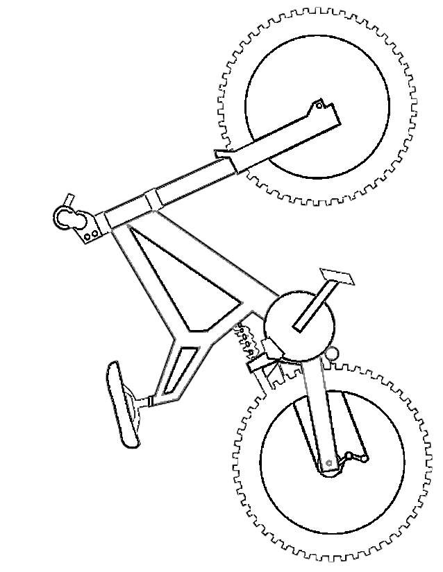 Free coloring and drawings Simplified bike Coloring page