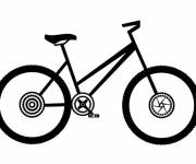 Coloring pages Single road bike