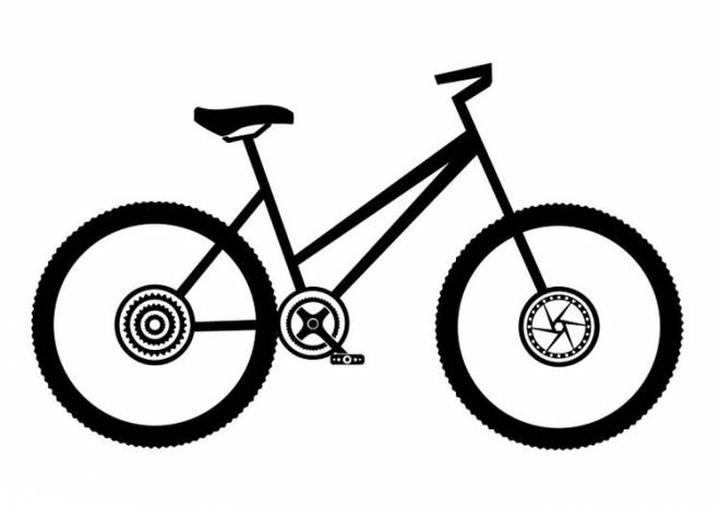 Free coloring and drawings Single road bike Coloring page