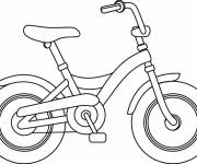 Coloring pages Stylized bicycle in color