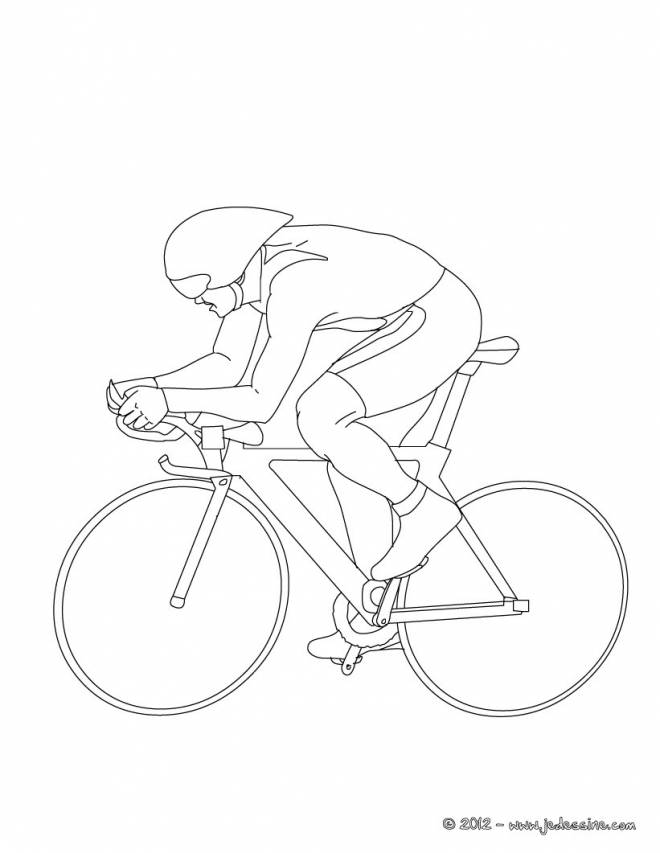 Free coloring and drawings Stylized cycling Coloring page
