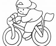 Coloring pages The boy on his bicycle