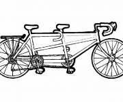 Coloring pages Three seat bike