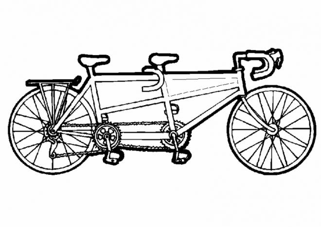 Free coloring and drawings Three seat bike Coloring page