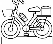 Coloring pages Vector bicycle for child
