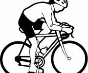 Free coloring and drawings Vector cycling Coloring page
