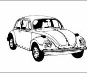 Free coloring and drawings A classic car Coloring page