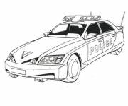 Coloring pages A modern police car
