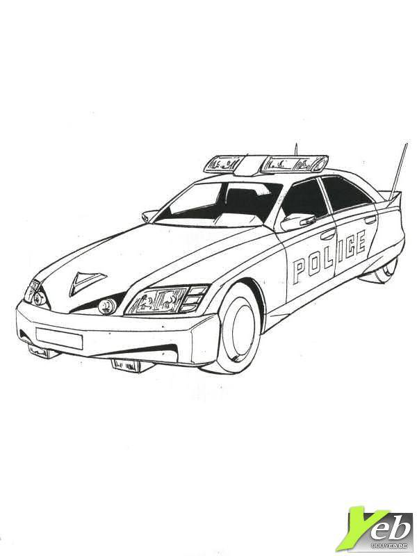 Free coloring and drawings A modern police car Coloring page