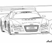 Free coloring and drawings Audi R8 car Coloring page