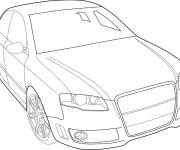Free coloring and drawings Audi vector Coloring page