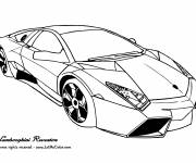 Free coloring and drawings Automobile Lamborghini Reventon Coloring page