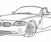 Free coloring and drawings BMW convertible car to color Coloring page