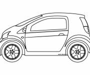 Free coloring and drawings Chrysler Small Car Coloring page