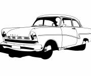 Coloring pages Classic Ford car