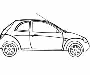 Free coloring and drawings Ford two-door car Coloring page