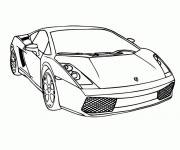 Free coloring and drawings Luxurious auto Lamborghini Coloring page