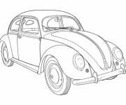 Free coloring and drawings Old Beetle Automobile Coloring page