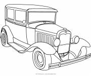 Free coloring and drawings Old Ford automobile Coloring page