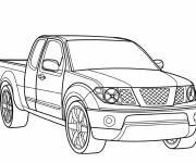 Free coloring and drawings Pick up car Coloring page
