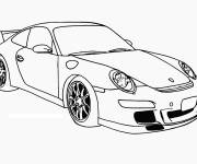 Free coloring and drawings Porsche Panamera racing car Coloring page