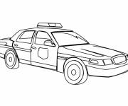 Free coloring and drawings The American police car Coloring page