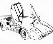 Coloring pages Automobile Butterfly door