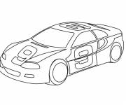Coloring pages Race car number 9