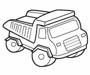 Coloring pages A truck for works