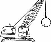 Coloring pages Demolition ball