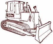 Coloring pages Easy Tonka bulldozer